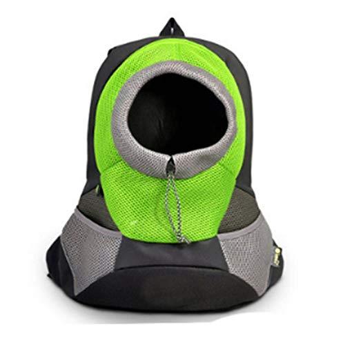 Tigkley - Mochila plegable para perros y gatos pequeños, para viajes, senderismo, camping, Green (Verde) - Tigkley