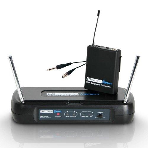 LD Systems ECO Series 2-863,900 mhz micrófono con cinturón con sistema de frío y Cable jack para guitarra sistema inalámbrico