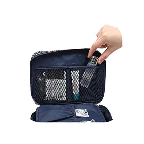 Sac cosmétique de Voyage | Pockettrip Clear Cosmetic Makeup Bag Toiletry Travel Kit Organizer Dust-Proof Cosmetics Storage Container -Blue-