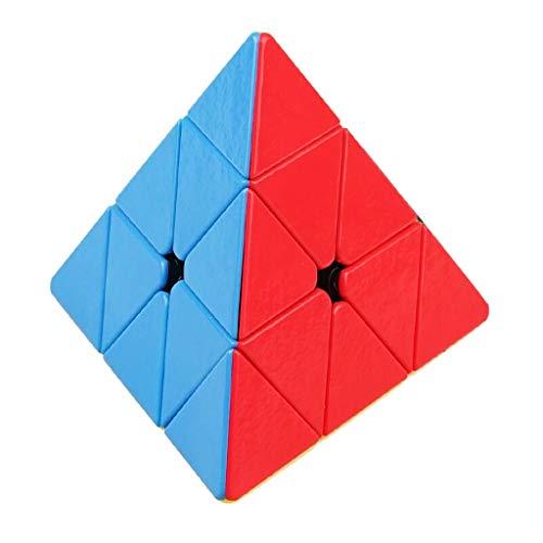 HXGL-Cubos Mágicos Asamblea 3D Velocidad Rompecabezas Cubo Mágico Pirámide Cubo En Forma De Puzzles Rompecabezas del Cubo del Niño Juguetes Suaves For Estudiante De Educación Rápido