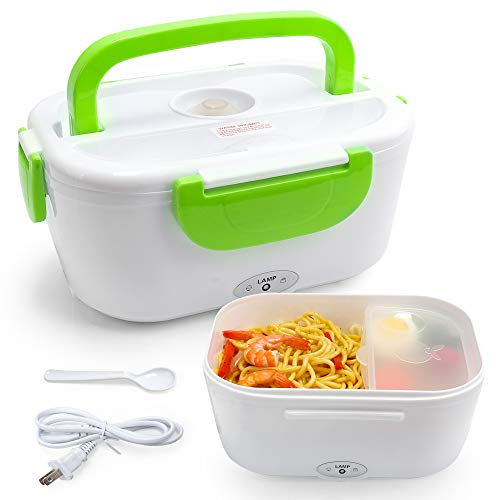 VECH Electric Heating Lunch Box Food Heater Lunch Containers Warming Bento for Home & Office Use 110V Hot Lunch Box (Green)