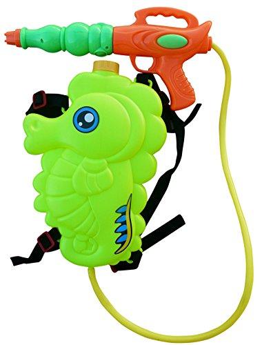 Wasserpistole-n S32, Kinder-Spielzeug Spritz-Pistole Seepferd-Rucksack Rücken-Tank Wasser-Spritze Super-Soaker Spielzeug-Gewehr Pump-Gun Geschenk-Idee Geburtstag-e
