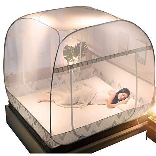LXLTL Moskito Netto Bett Baldachin Pop-Up Faltbare 3 Tür Einfach Zu Setup Mit Unten Anti Moskito Beißt Für Bett Camping Travel Zelt Vorhänge Für Indoor Und Outdoor Use,180x220cm