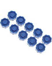 TOYMYTOY 150個シリンジキャップ無先端ロックキャップ調剤ブルーシリンジキャッププラスチック製エンドキャップを供給するための実験室用品