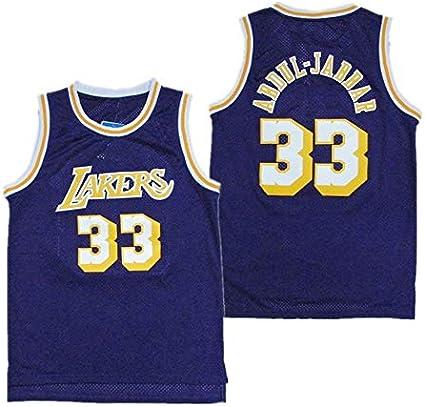 ZeYuKeJi Los Hombres de Jersey-NBA Lakers Lakers # 33 Abdul ...