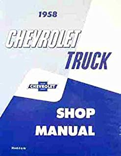 1958 Chevrolet Truck Repair Shop & Service Manual