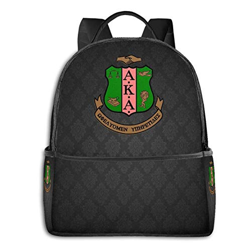 Alpha Kappa Alpha High-Capacity Fashion Backpack, Portable Backpack for Outdoor Sports
