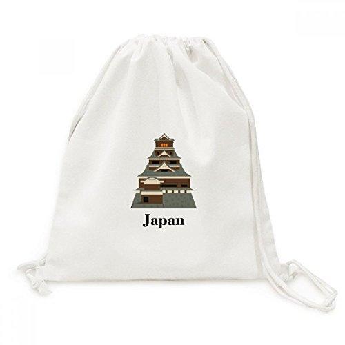DIYthinker Traditioanal Japanische Kyoto Palace Canvas-Rucksack-Reisen Shopping Bags