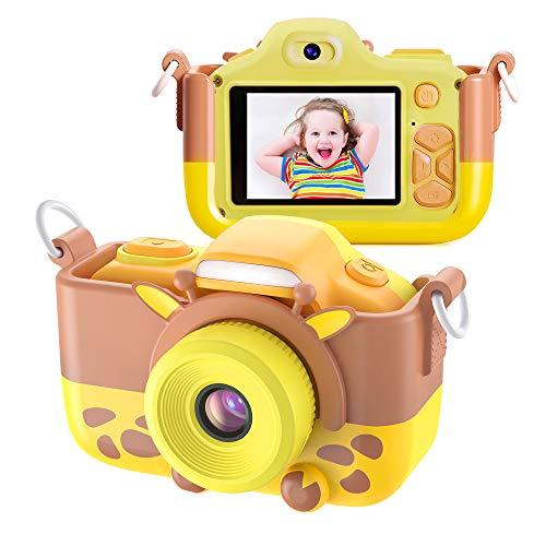 Kriogor Cámara de Fotos para Niños, Juguete Digital Cámara Selfie Flash 2 Pulgadas 1080P HD Niño Niña Cumpleaños (Tarjeta Micro SD Incluida)