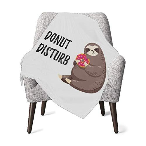 XCNGG Mantas para bebés edredones para bebésBaby Blanket Cute Vector Illustration Funny Cartoon Sloth Decorative Throw Blanket Receiving Blanket for Toddler Bed, Crib, Stroller, Nursery Bedding Essent