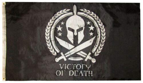 Trade Winds 3x5 Molon Labe Victory or Death Spartan Helmet Swords 3'x5' Polyester Flag (RAM) Premium Fade Resistant