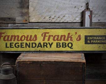 Not Branded Letrero Legendary BBQ Sign, Personalizado Barbeque Sign Regalo, Barbacoa Flecha,...