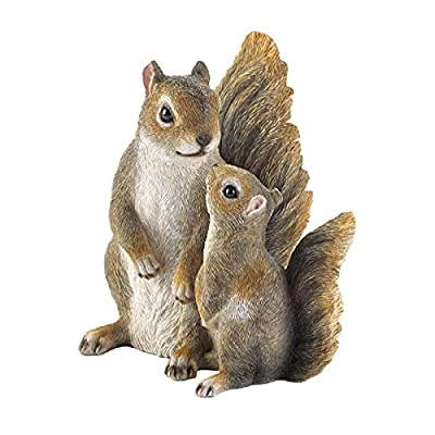 Summerfield Terrace Mommy and Baby Squirrel Garden Figurine