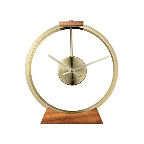 Fengshop Reloj Digital Luz de Mesa de Lujo Reloj de decoración Simple Metal Tablero de Mesa Reloj de Escritorio con batería Usado en Sala de Estar, Dormitorio, Estudio, Oficina Despertador Digital