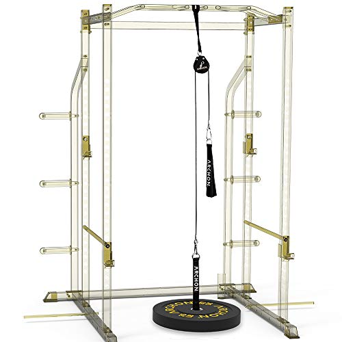 ARCHON Fitness Single Pulley Cable Station 70 | Cable Machine | Pulley System | LAT Pull | Triceps Rope | Biceps Curl | Home Gym Equipment | Workout Accessories | Cable Machine Attachments