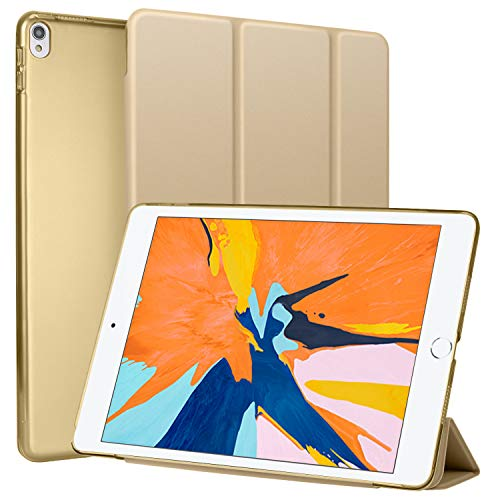 Utryit iPad Pro 10.5 2017 ケース, 新iPad air 2019 保護ケース兼用 超軽量&超薄型デザイン タブレットカバー スタンド 三つ折タイプ[10.5 ケース+ギフト] 対応 ipad 10.5インチ iPad モデル番号A