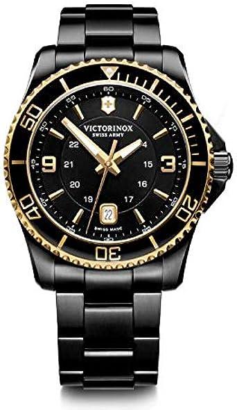Victorinox Hombre Maverick Large - Reloj de Acero Inoxidable de Cuarzo analógico de fabricación Suiza 241884
