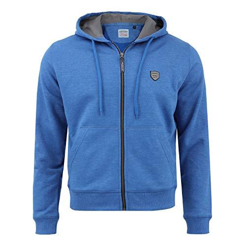IMAKO® Herren sportlicher Herren Kapuzenpullover Kapuzenjacke Hoody Sweatshirt, blau, Gr. L