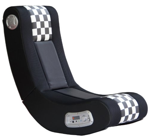 X Rocker Drift Wireless Black and White Checkered Flag 2.1...