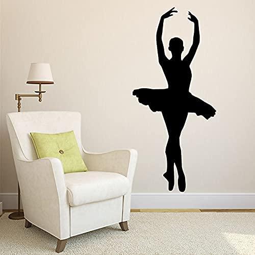 DOUMAISHOP Elegante bailarina bailarina ballerina danza postura acción vinilo vinilo adhesivo pared...