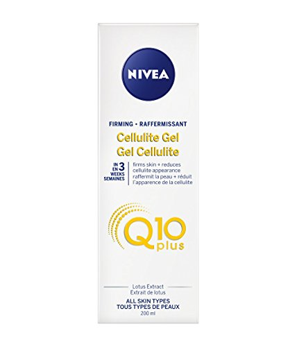 Nivea Firming CELLULITE GEL PLUS Q10 L-Carnitine 200 ml (6.8 fl oz) Made in France