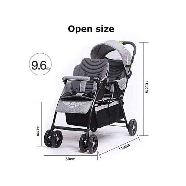 JXCC Double Strollers Baby Pram Tandem Buggy Newborn Pushchair with Adjustable Backrest- (Grey/Red) -Safe And Stylish Red JXCC 1. {Multi-angle adjustable}: The rear seat can sit down and adjust the angle from 0 to 175 degrees, suitable for all occasions. 3.{3D stereo shock} - X-frame setting, evenly dispersing the upper weight 1.{All seasons} - The awning can be adjusted at multiple angles to easily cope with the sun 3
