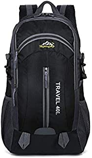 Backpack Hiking 40l High Capacity with USB outlet - Water Resistant - Travel Bag - Black