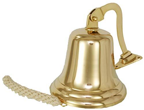 Buckingham Solid Brass Ship Bell, Last ordini Campana, Pub Bell, Campanello, montabile a Parete. 10,2cm/10cm