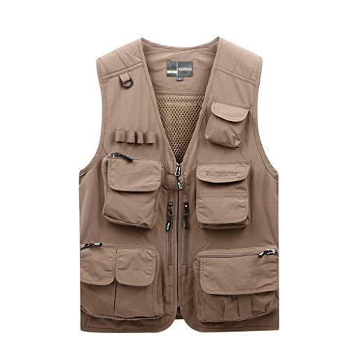 Vest dun vest mode mesh vest zomer dun multi-pocket vest heren visvest