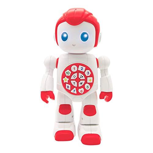 Lexibook 7280033 ROB15DE Powerman First Interaktives Lernroboter Spielzeug für Kinder Tanzen Spielen Musik Quiz Zahlen Formen Farben Junge Mädchen Smart Roboter Junior Rot/Weiß