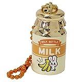 おみくじ キーホルダー[牛乳瓶型]キーリング/バナナラビット