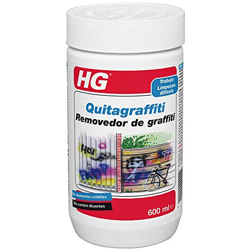 HG 127060130 Quitagraffiti 600 ml-un limpiagrafittis Que Elimina Aerosol, Las Salpicaduras de Pintura Nueva y Las Manchas de rotulador, 0.5 l