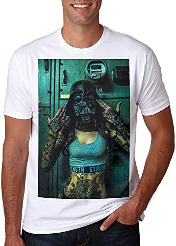 Star Tattoo Tshirt Sexy Woman Girl Wars Swag Darth Vader Style Gun Hand Geek 14
