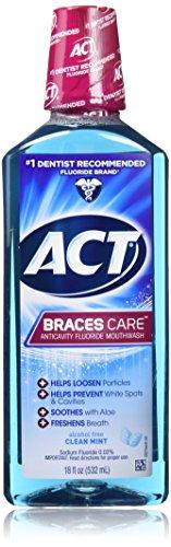 Act Braces Care Anticavity Flouride Mouthwash 18 Ounce 2 Pack