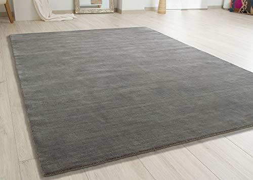 Steffensmeier Gabbeh Teppich Patna   Wolle Handloom, Dunkelgrau, Größe: 120x180 cm Kurzflor...