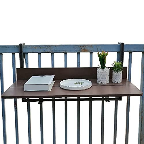 YYHJ Balkon Klappdeck Tisch verstellbar Wandklapptisch Wandtisch klappbar Balkontisch Hängetisch Geländer