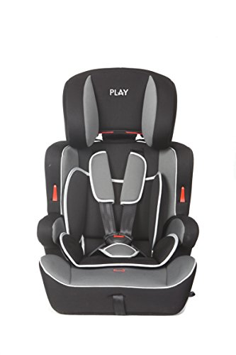 Casualplay Safe Ten - Silla de coche grupo 1/2/3, color negro y...