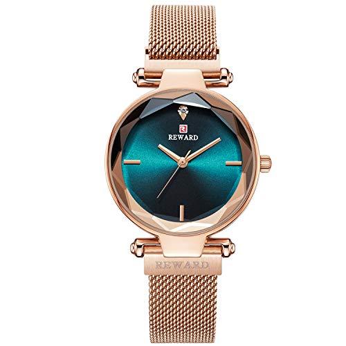 RORIOS Montre pour Femme/Dames Montres Bracelet Analogique Quartz Watch Cadeau d'anniversaire Montre