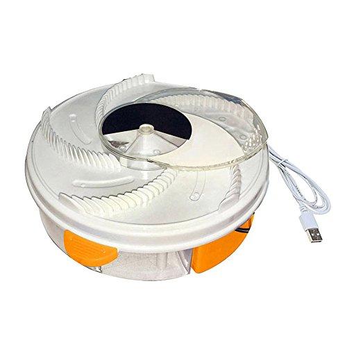 ZREAL Elektro Auto der Falle der Fliege des USB Gerät mit der Nahrung atrapamiento + USB Kabel + Werkzeug des Bürste Conector USB Orange