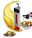 Oil & Vinegar Pots Glass Oil Bottle Leak-Proof Automatic Opening and Closing Oil Pot Household Seasoning Bottle Glass Cooking Olive Oil/Vinegar Dispenser Bottle