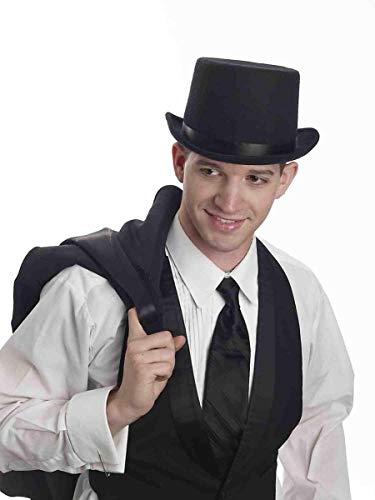 Forum Novelties Party Supplies Men's Super Deluxe Top Hat, Black, Standard