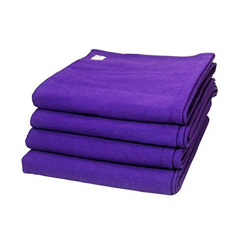 Iyengar - Juego de 4 mantas de algodón para yoga de colores de Iyengar