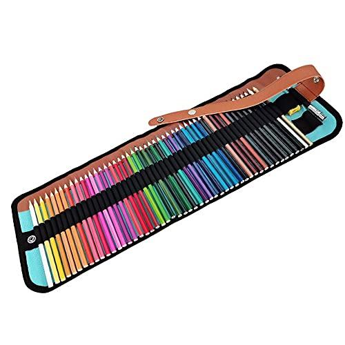 Jooheli Lapices Colores Profesional,50 Juego de lápices de colores Lapices Acuarelables Profesional lapiz para colorear de Dibujo y Bosquejo,Perfecto para Artistas, Estudiantes, Niños y Adultos