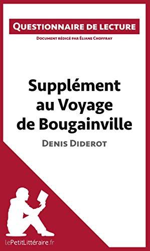 Supplément au Voyage de Bougainville de Denis Diderot: Questionnaire de lecture