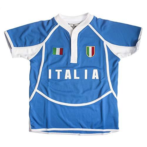 Rugby Nations - Magliette da rugby per bambini Italia 11-12 anni