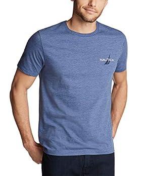 Nautica Men s Short Sleeve Logo Series Graphic Tee Blue Indigo Heather Large