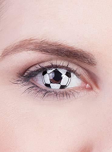 Maskworld Fußball Kontaktlinsen/Monatslinsen - Motivlinsen ohne Sehstärke - Unisex - Erwachsene - ideal für Sport- und Groß-Events, Karneval & Motto-Party
