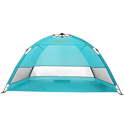 Alvantor Beach Tent Coolhut Plus Beach Umbrella Sun Shelter Cabana Automatic Pop Up UPF 50 Sun Shade Portable Camping Hiking Canopy Easy Set Up Light Weight Windproof Stable 2-3 Person