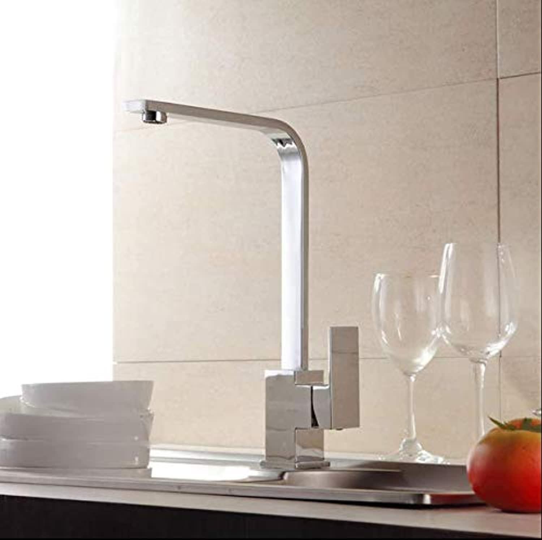 Küchenkupferhahn hot und kalte Spüle sinken quadratische Spüle Wasserhahn einzigen Loch