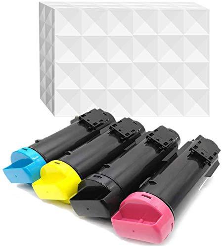 YOUTOP 4er-Pack Kompatible Toner als Ersatz für Xerox Phaser 6510 WorkCentre 6515 Tonerpatrone 6515DN 6515DNI 6515DNM 6515N 6510N 6510DN 6510DNI 6510DNM